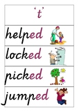 3 sounds of 'ed' flashcards