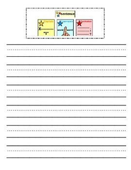 3 star sentence - Visuals and Activity Pack - great memory aid for Kindergarten