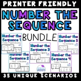 3 step and 4 step Sequencing- Number the Sequence BUNDLE