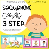 3 step sequencing picture cards / stories