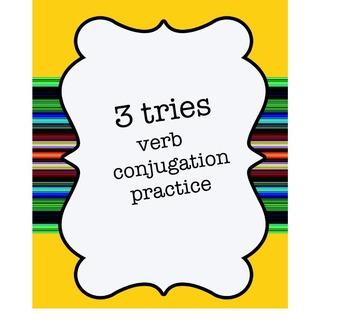 3 tries verb conjugation practice 4.2 avancemos