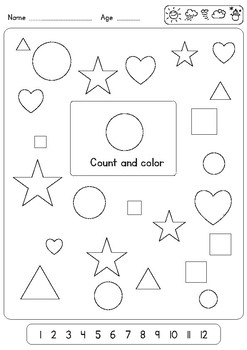 3 Very Easy worksheets for Teaching Shapes to Preschool and Kindergarten