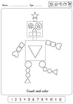 3 very easy worksheets for teaching shapes to preschool and kindergarten. Black Bedroom Furniture Sets. Home Design Ideas
