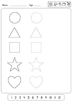 3 Very Easy worksheets for Teaching Shapes to Preschool ...