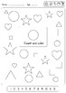 3 very easy shapes worksheets