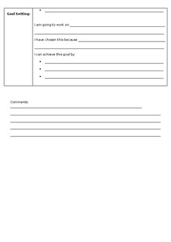 3 way Goal Setting Interview Sheet