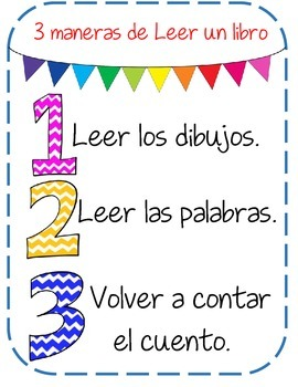3 ways to Read a book - Spanish