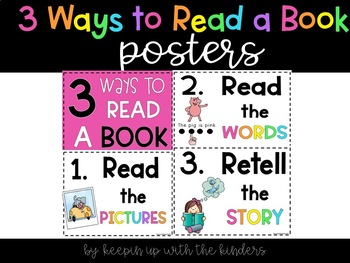 3 ways to read a book mini posters and full size poster