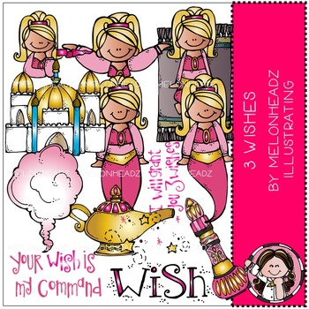3 Wishes clip art - Genie - COMBO PACK - by Melonheadz