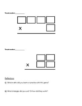 3 x 1 digit multiplication game