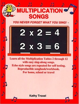 "3 x 2 to 3 x 12 mp4 Video from ""Multiplication Songs"" by Kathy Troxel"