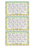 3 x 5 Cursive Desk Cards {Zaner Bloser}