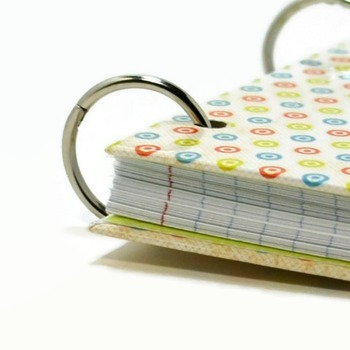 3 x 5 index card laminated binder with retro circles