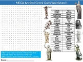 3 x Ancient Greek Gods Wordsearch Sheet Starter Activity Keywords History Greece