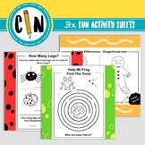 3 x Fun Activity Sheets