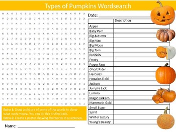 3 x Halloween Wordsearch Sheet Starter Activity Keywords Pumpkins Ghosts
