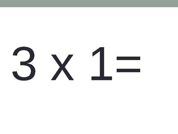 3 x Multiplication Flash Cards ppt