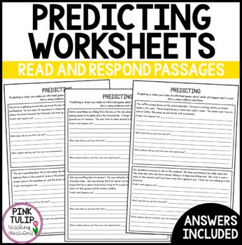 4 x Predicting Worksheets - 12 passages with questions for predicting
