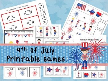 30 4th of July Games Download. Games and Activities in PDF files.