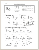 30-60-90 Special Right Triangle - Practice/HW