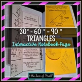 30-60-90 Special Right Triangles Interactive Notebook Page