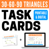 30-60-90 Triangles Task Cards and Boom Cards