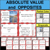30 ABSOLUTE VALUE Task Cards Center Activity Formative Assessment