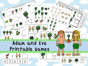 30 Adam and Eve themed Printable Games and Activities. Christian Studies.