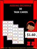 30 Adding Decimals Task Cards