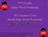 30 Addition & Subtraction Multi-Step Word Problems: 3rd Grade