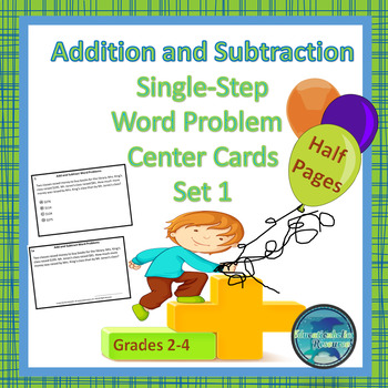 30 Addition and Subtraction Word Problem Center Cards