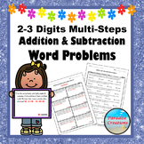 30 Addition and Subtraction Word Problems Task Cards
