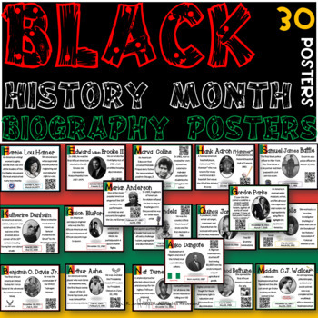 30 African American Black Leader Posters | Culture Walk | Black History Wall