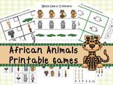 30 African Animals Games Download. Games and Activities in PDF files.