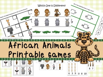 image regarding Printable Pdf Files identify 30 African Pets Video games Obtain. Online games and Actions in just PDF data files.