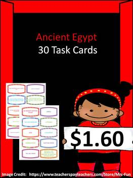 30 Ancient Egypt Task Cards
