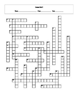 30 Answer Cosmos: A Spacetime Odyssey Episode 9 Crossword with Key