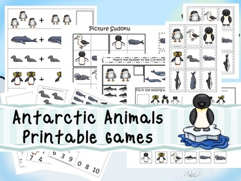 30 Antarctic Animals Games Download. Games and Activities in PDF files.