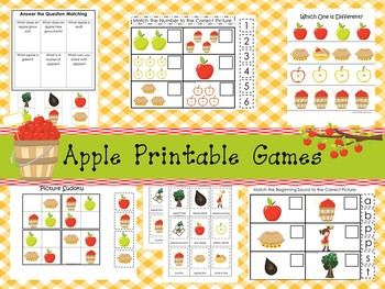 30 Apple Orchard Games Download. Games and Activities in a ZIP file.