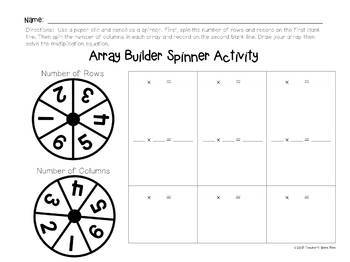 30 Array Task Card Strips & 10 Activity Pages