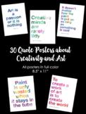 "30 Art & Creativity Classroom Quote Posters (8.5"" x 11"")"