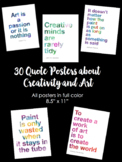 "30 Art & Creativity Classroom Quote Posters (8.5"" x 11"")"