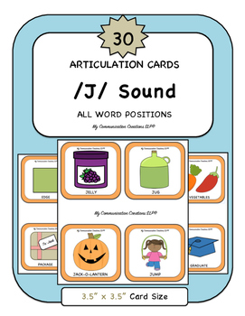 30 Articulation Cards {/J/ Speech Sound} All Word Positions
