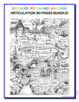 30 Articulation Coloring Pages - BUNDLE