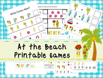 30 At the Beach Games Download. Games and Activities in PDF files.