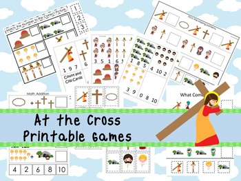 30 At the Cross themed Printable Games and Activities. Christian preschool curri