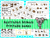 30 Australian Animals Games Download. Games and Activities in PDF files.