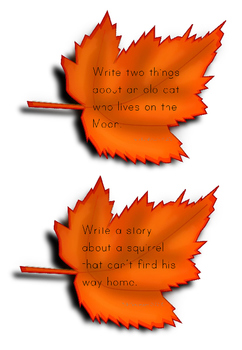 Fall/Autumn Story Starters and Task Cards