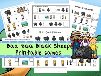 30 Baa Baa Black Sheep Games Download. Games and Activities in PDF files.