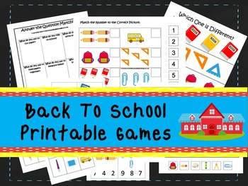 30 Back To School Games Download. Games and Activities in PDF files.